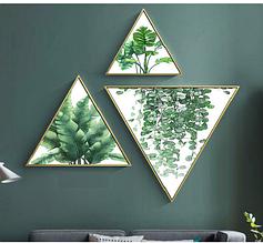 Модульная картина Бамбуковые Листья 3 в 1 top-871