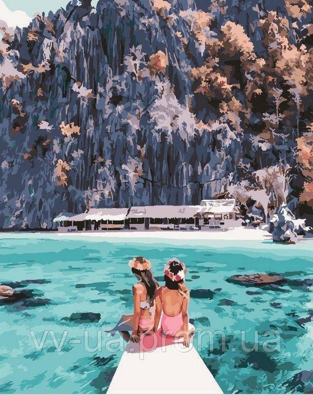 Картина по номерам Девушки у острова Корон, 40x50 см, Brushme (Брашми), подарочная упаковка (GX24916)