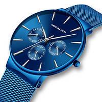 Компактные часы в цвете электрик для мужчин MegaLith