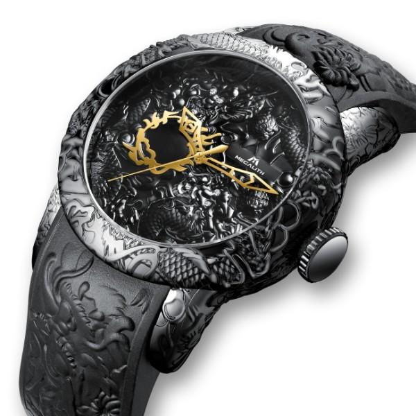 Эксклюзивные мужские часы в китайском стиле с драконом MegaLith
