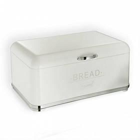 Хлібниця Maestro з відкидною кришкою Біла з нержавіючої сталі MR-1677