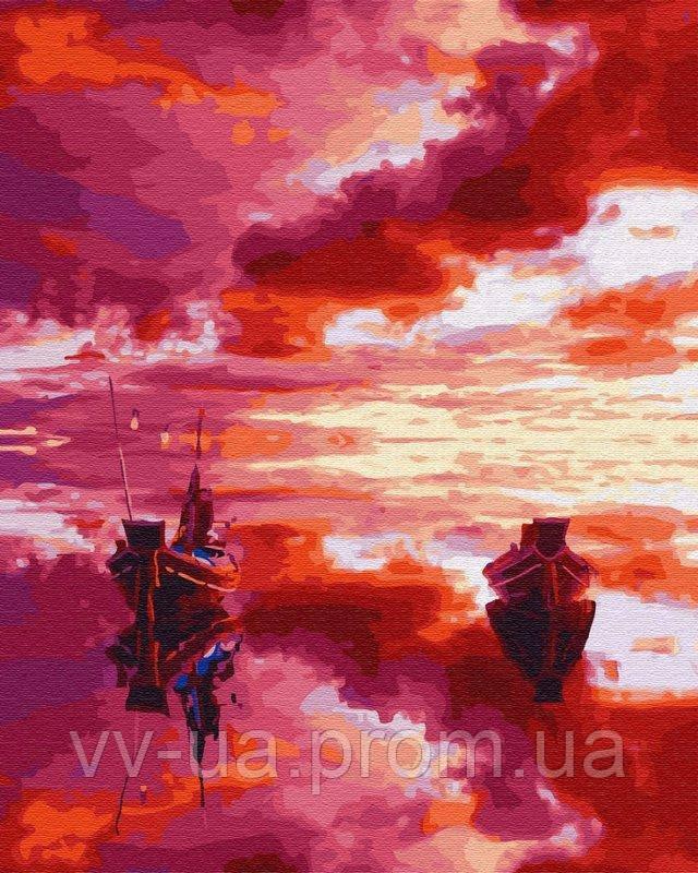 Картина по номерам Малиновый закат, 40x50 см, Brushme (Брашми), подарочная упаковка (GX28890)