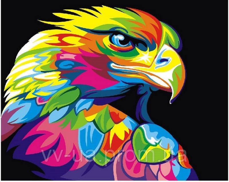 Картина по номерам Радужный орел, 40x50 см, Brushme (Брашми), премиум упаковка (PGEX5329)