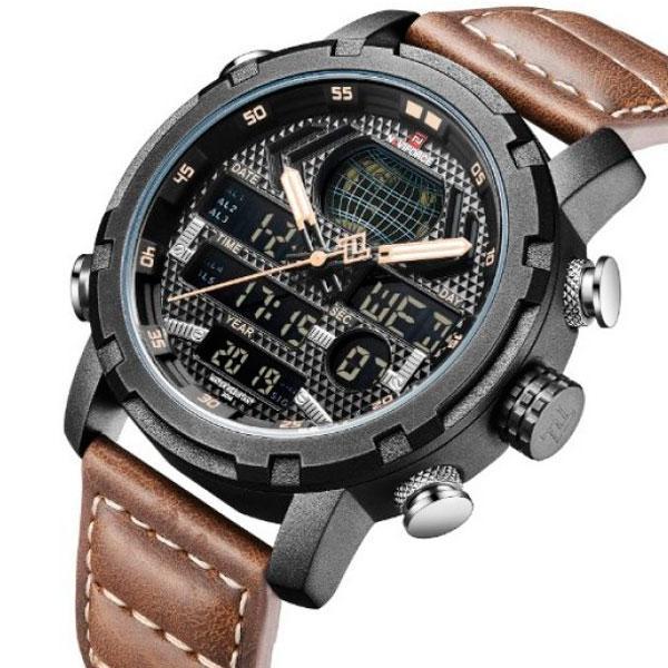 Naviforce Мужские часы Naviforce World NF9160 Brown