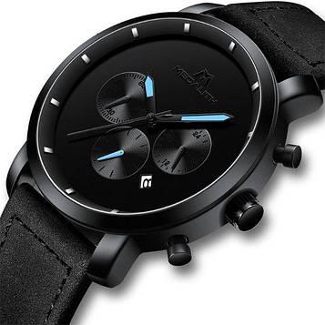 Крутые мужские часы для любого типа одежды/повседневные MegaLith Vector Leather