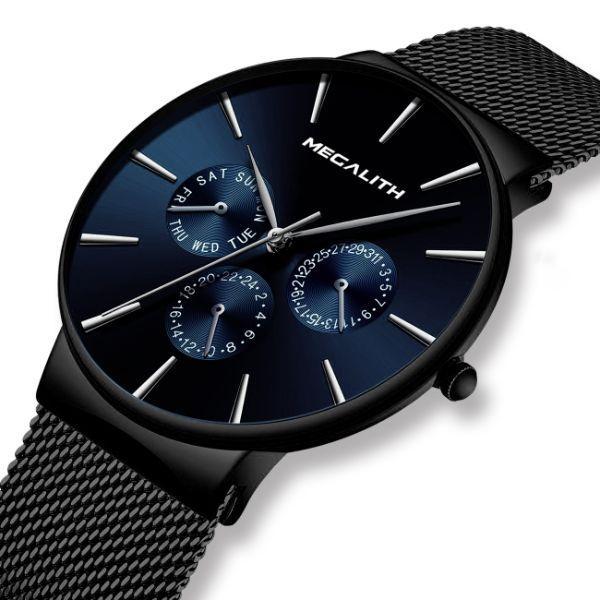 Стильные мужские часы в стиле минимализма MegaLith Boss