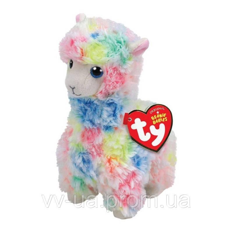 Мягкая игрушка TY Beanie Babies Разноцветная лама Лола, 15 см (41217)