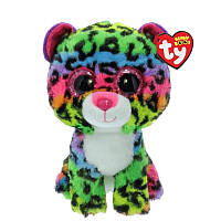 Мягкая игрушка TY Beanie Boo's Разноцветный леопард Дотти, 15 см (37189)