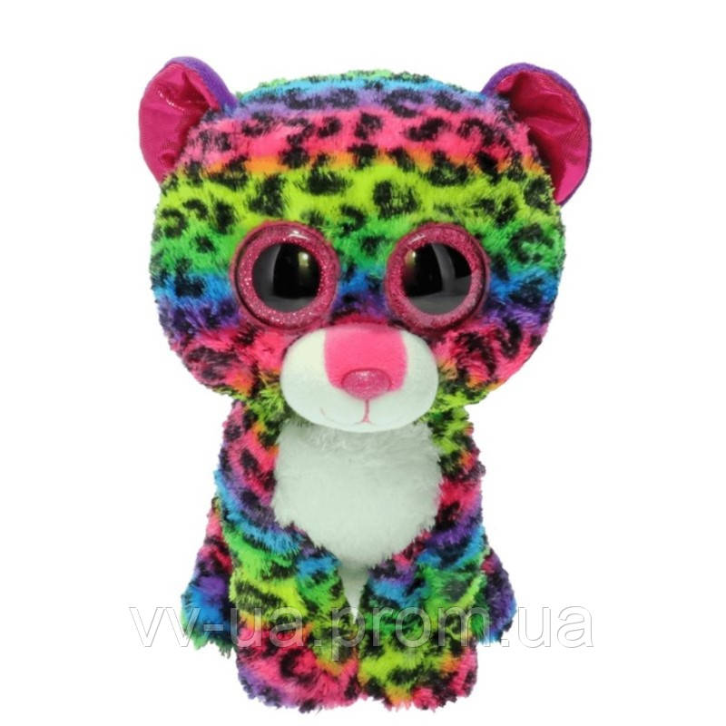 Мягкая игрушка TY Beanie Boo's Разноцветный леопард Дотти, 25 см (37074)