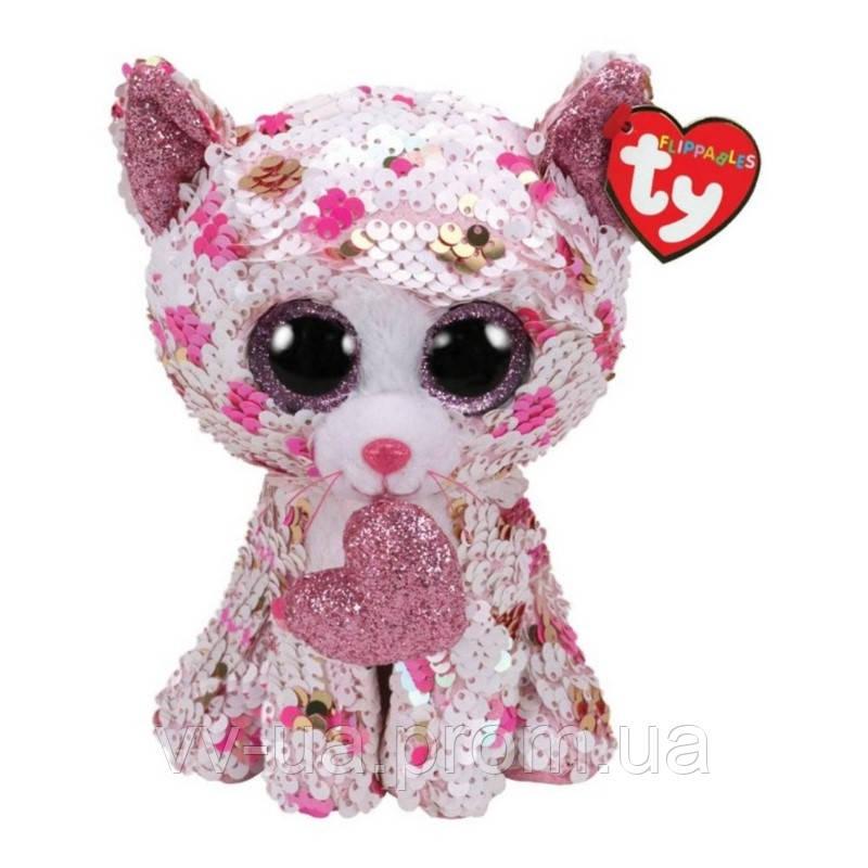 Мягкая игрушка TY Flippables Котенок Cupid, 15 см (36340)