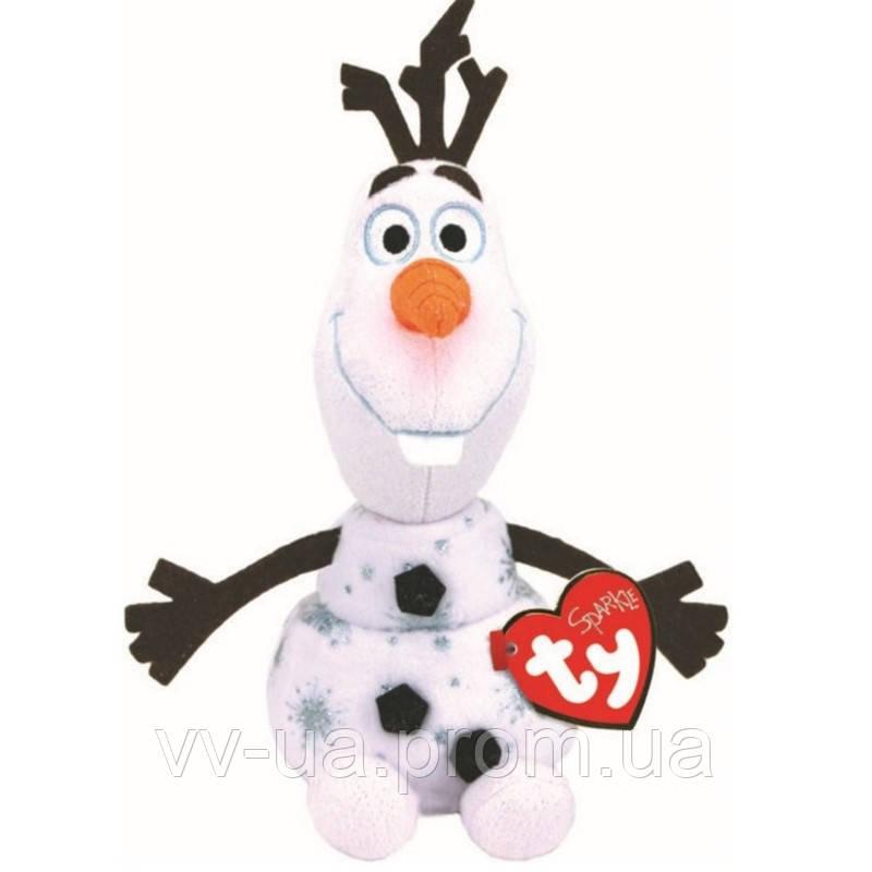 Мягкая игрушка TY Frozen Олаф, 15 см (звуковой эффект) (41096)