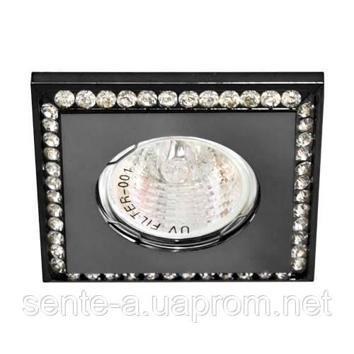 Встраиваемый светильник Feron DL102-BK прозрачный черный