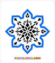 Трафарет + формочка-вырубка для пряников Снежинка №41