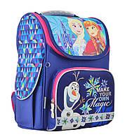 Рюкзак школьный ортопедический каркасный 1 Вересня H-11 Frozen blue, 33.5*26*13.5 код: 555158