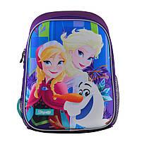 Рюкзак школьный ортопедический каркасный 1Вересня H-27 Frozen код: 557711, фото 2