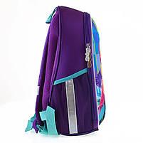 Рюкзак школьный ортопедический каркасный 1Вересня H-27 Frozen код: 557711, фото 4