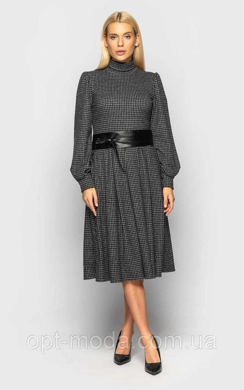 """Утепленное женское платье с поясом в комплекте """"El Paso"""""""