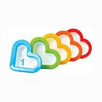 Игрушка для купания Сердечки набор 5шт Munchkin пластик 012312