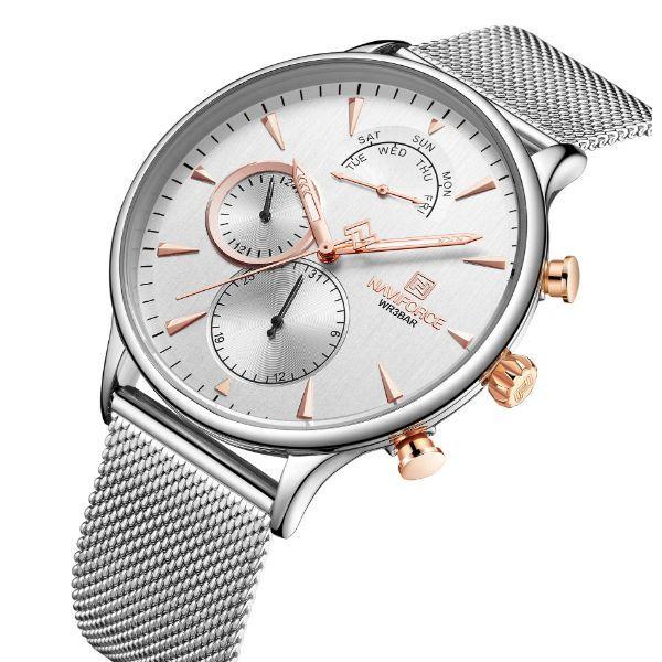 Дорого выглядящие мужские наручные часы Naviforce Ambition