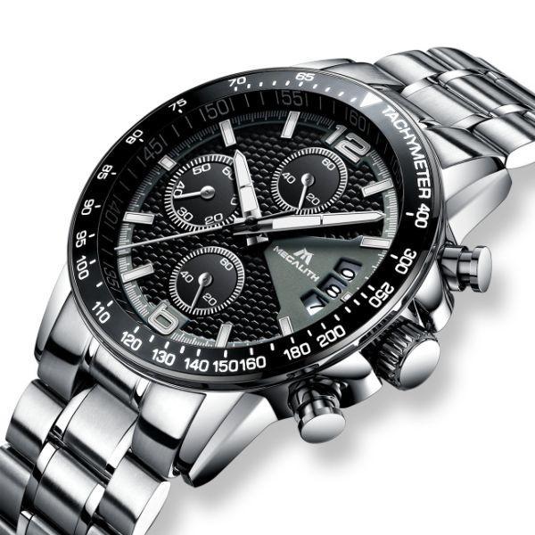 Мужские часы делового стиля серебристые MegaLith Start