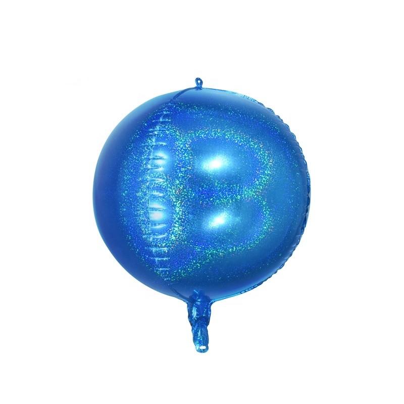 Cфера голограмма синяя 24'