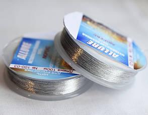 Люрекс ALLURE, светлое серебро, 100м, Spark Beads