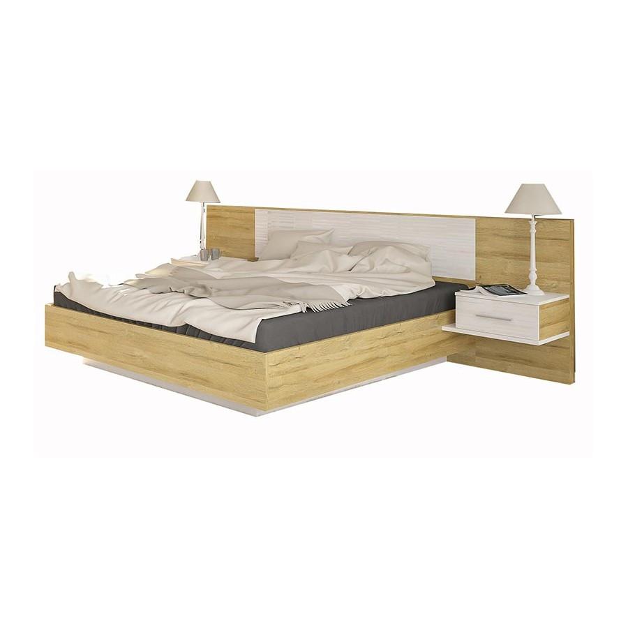 Кровать 1600 Фиеста Дуб Золотой - Мебель Сервис