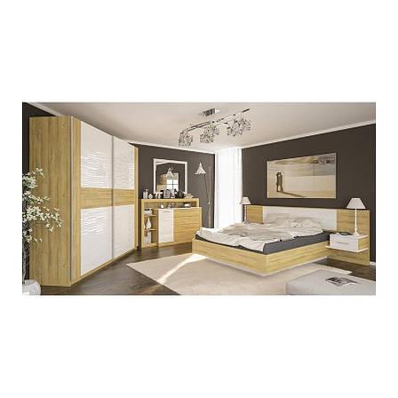 Кровать 1600 Фиеста Дуб Золотой - Мебель Сервис, фото 2