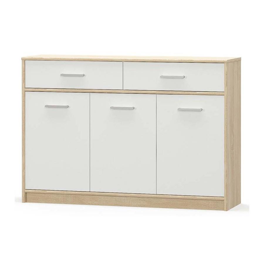Комод 3Д2Ш Типс Белый - Мебель Сервис