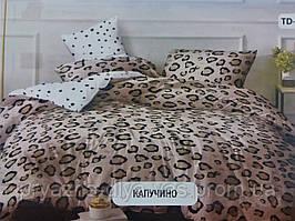 Комплект постельного белья Тиротекс Бязь Капучино Двуспальный 175х215