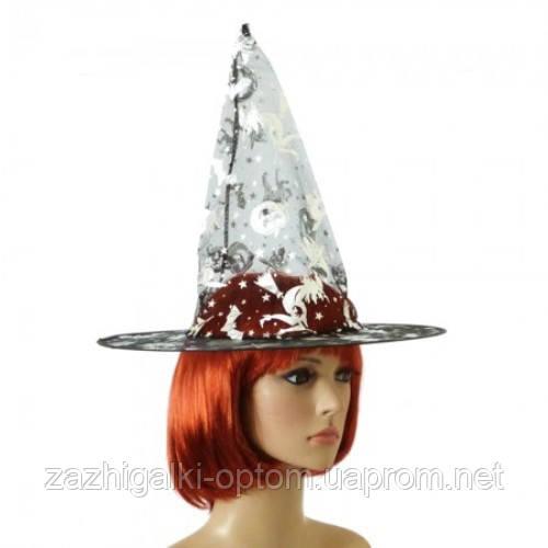 Шляпа Колпак капроновая (черная с серебром)