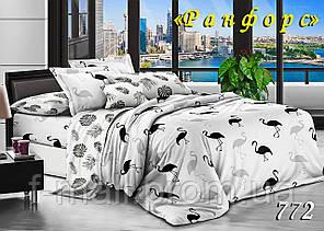 Двуспальное постельное белье Тет-А-Тет (Украина)  ранфорс (772)