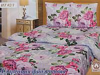 Комплект постельного белья Тиротекс Бязь Флоренция фиолетовая Двуспальный 175х215