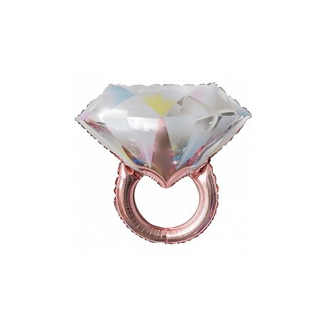 Кольцо бриллиант розовое золото 61х68см