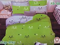 Комплект постельного белья Тиротекс Бязь Мяу-Мяу Двуспальный 175х215