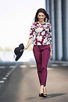 Женский Брючный Костюм с цветочным принтом, фото 1