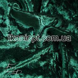 Ткань Бархат мрамор (изумруд)