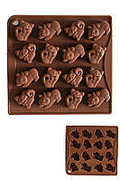 Силиконовая форма для мармелада и шоколада Котята на 16 ячеек
