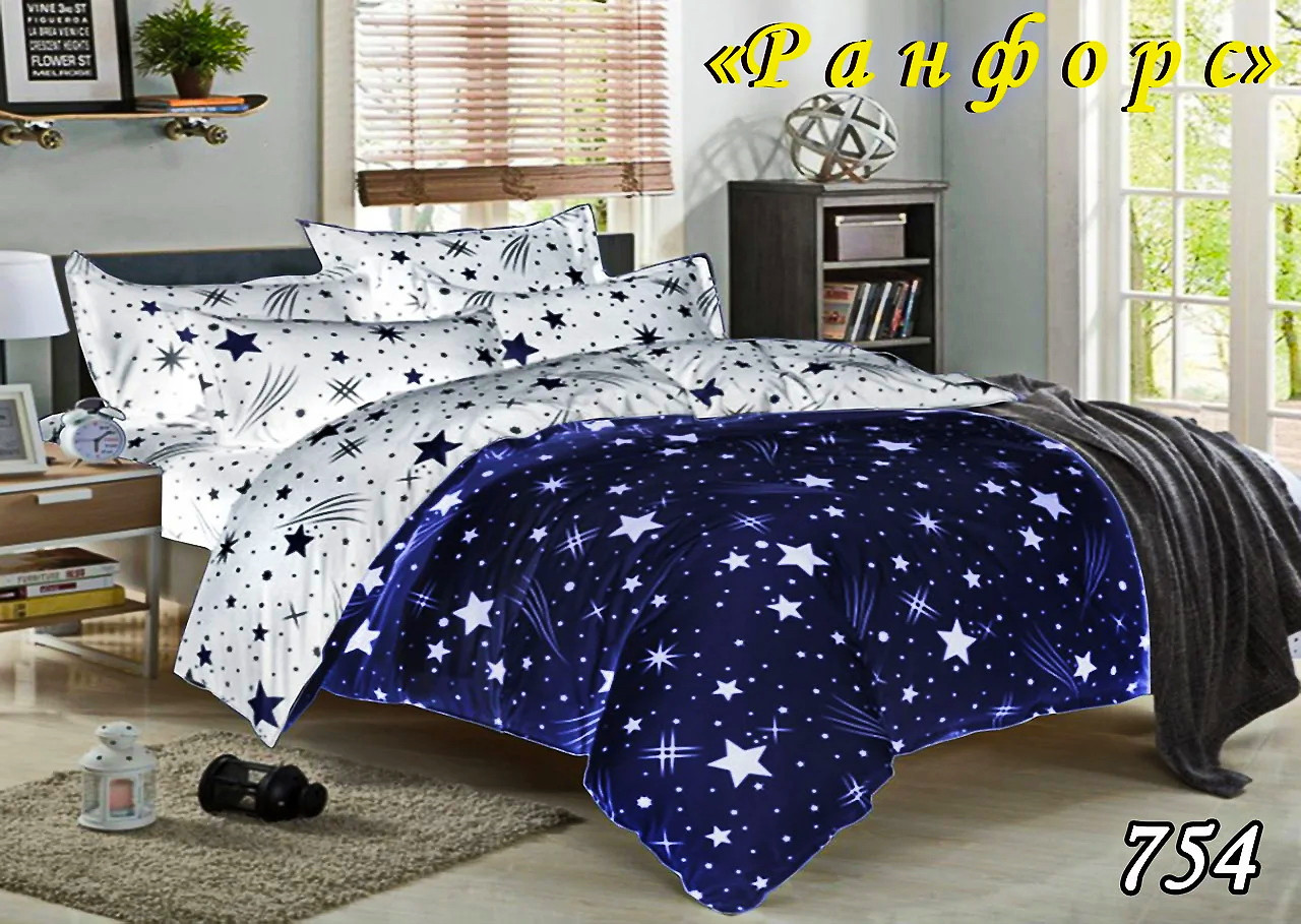 Комплект постельного белья Тет-А-Тет (Украина) полуторный  ранфорс (754)