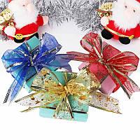 Лента для декорации подарков, DC2085 ткань 2,5см х3м цветная, 6видов с новогодним рисунком