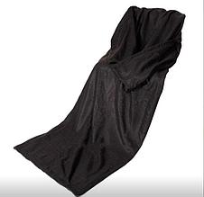 Плед с рукавами черный top-849