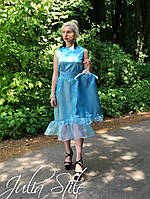 Атласное летнее платье мама и дочка, фото 1