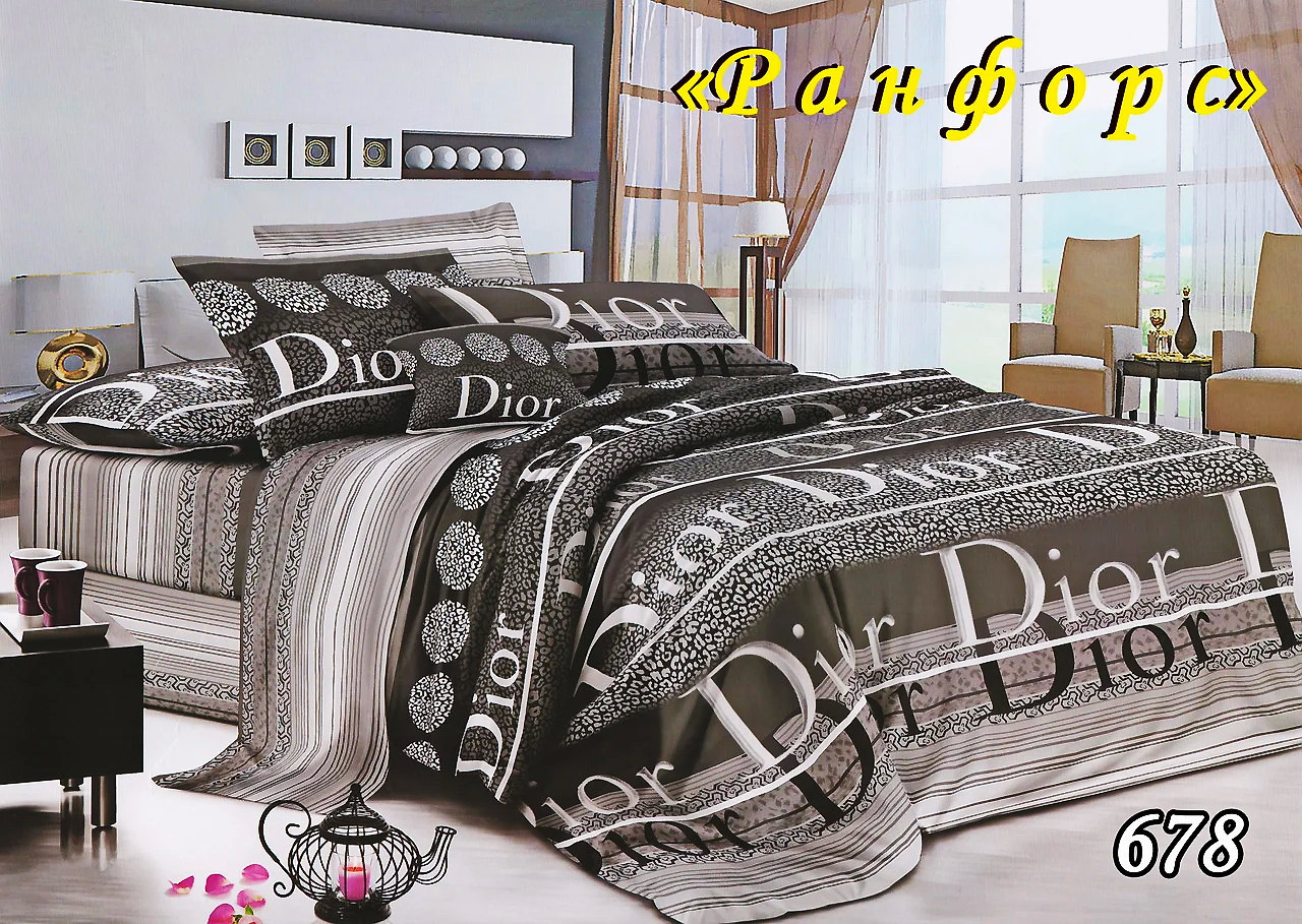 Комплект постельного белья Тет-А-Тет (Украина) полуторный  ранфорс (678)