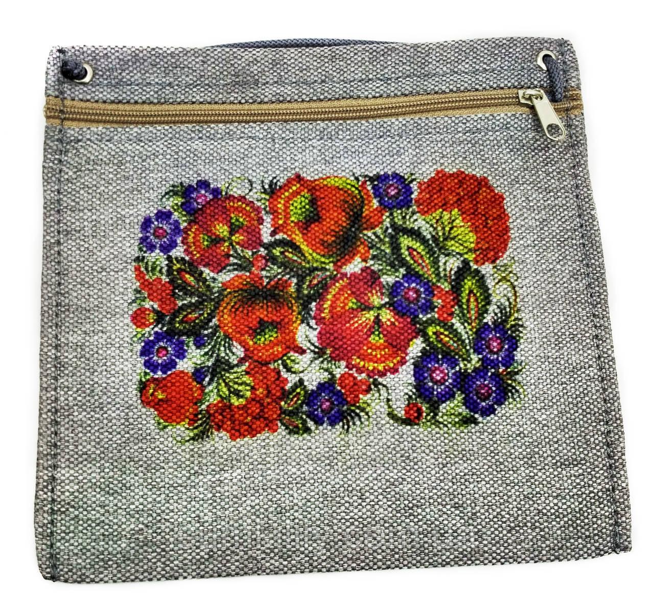 Текстильный кошелек КВІТИ 2