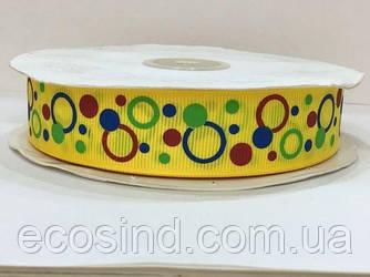 Лента репс с орнаментом 4 см. № 736/132 шарики (UMG-1489)