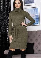 """Платье-гольф миди с карманами """"Елена"""" до 52 размера, фото 1"""
