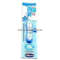 Зубная щетка Chicco Голубая для младенцев 06958.00. Гигиена для малышей