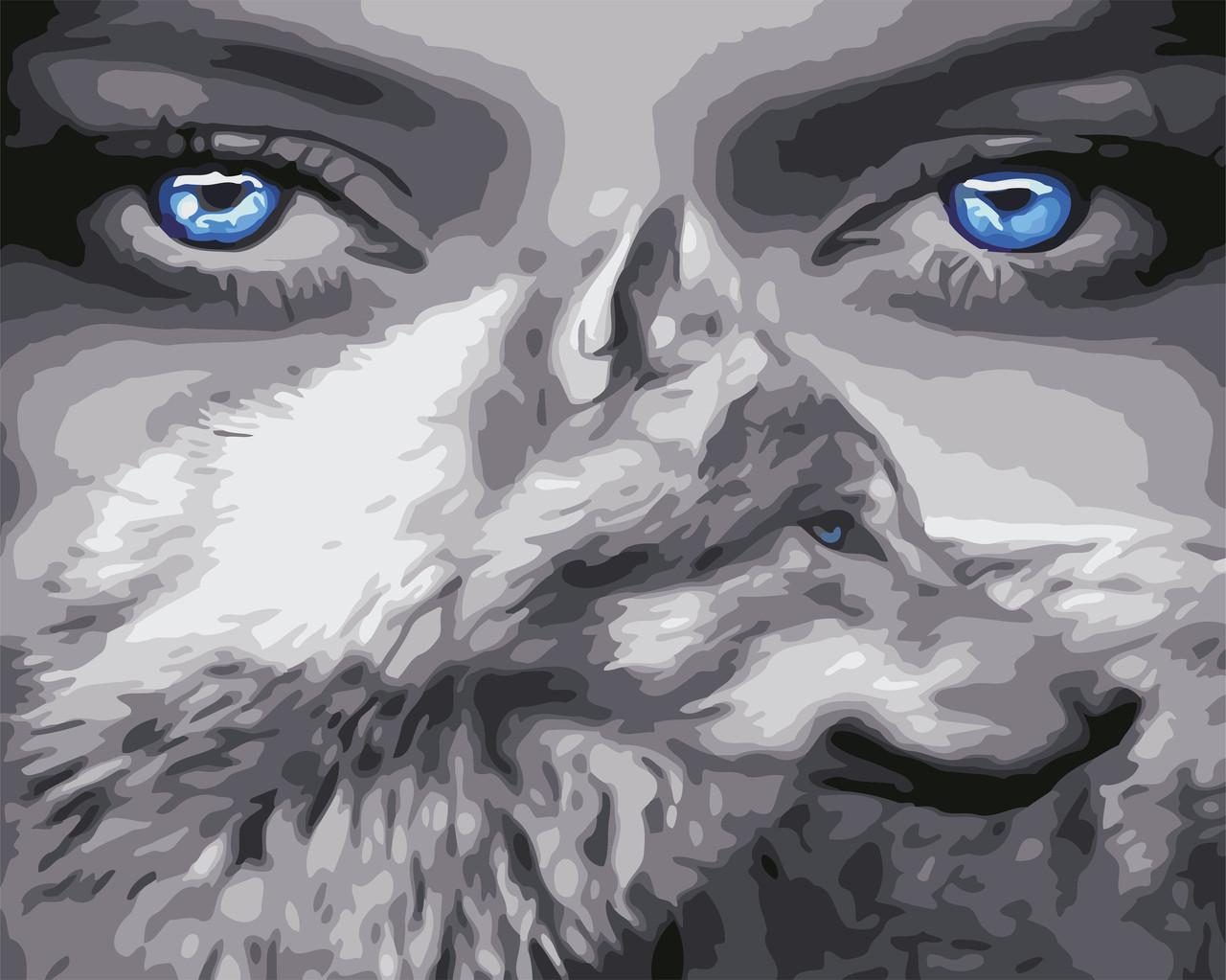 Художественный творческий набор, картина по номерам Взгляд волчицы, 50x40 см, «Art Story» (AS0588)