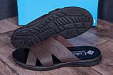 Мужские стильные кожаные шлепанцы Columbia ,  размеры 40,41,42,43,44,45, фото 7