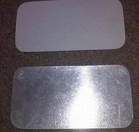 Крышка из алюминиевой фольги + картон (SP24L) 140 * 115 мм 100шт / уп